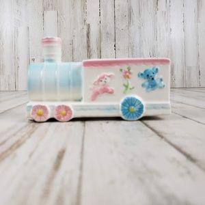Vintage Inarco Japan Planter Baby Ceramic Train